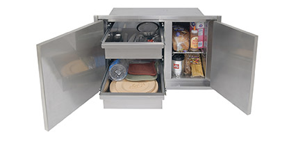 "Alfresco 42"" Low Profile Sealed Dry Storage Pantry (21"" high)"