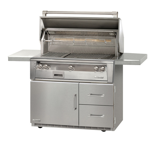 "Alfresco 42"" SearZone Grill on Refrigerated Cart"