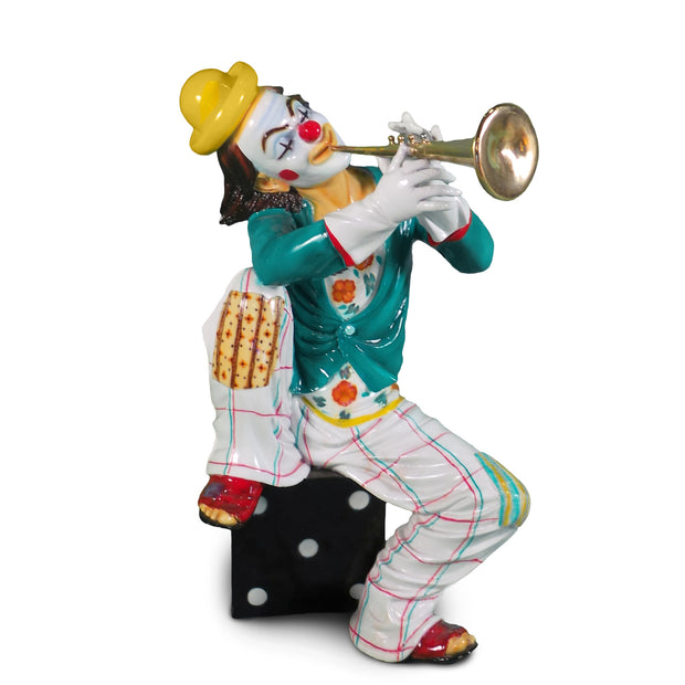 "Sitting Clown Musical 10.5""L x 10.5""W x 20.5""H"
