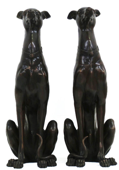 "Sitting Dog Pair 14""L x 11""W x 35""H Each"