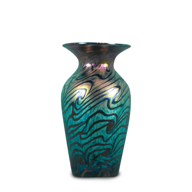 "Small Vase Van Gogh Sunset- 8"" High"