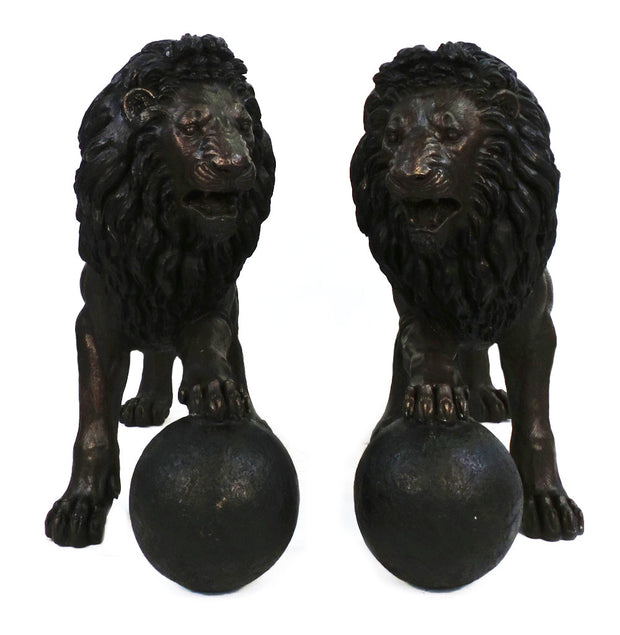 "Standing Lion with Ball Pair 19""L x 60""W x 46""H Each"