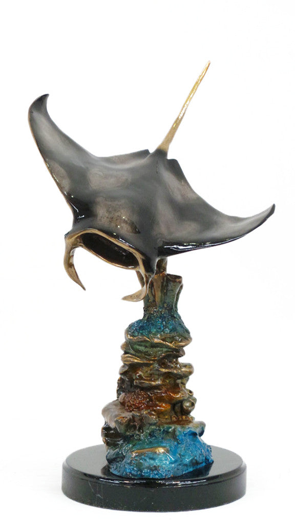 "Sting Ray Marble Base - Special Patina 18""L x 14""W x 21""H"