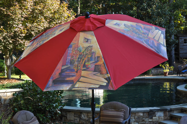 The Red Curtain Umbrella