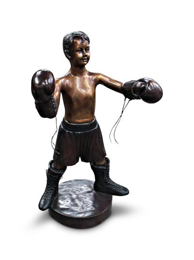 "Boxing Boy on Base 23""L x 15""W x 41""H"