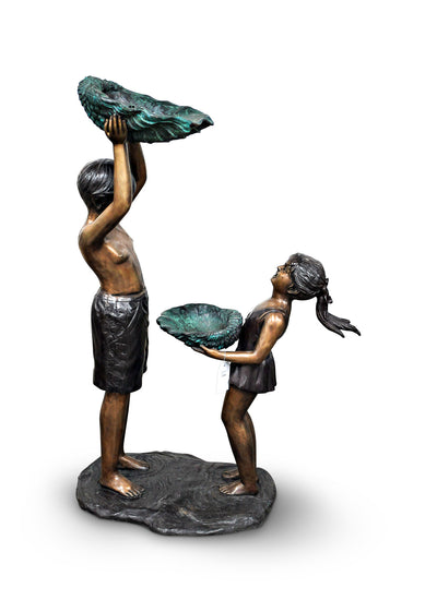 "Boy and Girl with Shell 19""L x 32""W x 50""H"