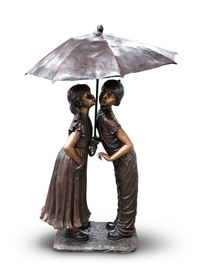 "Boy and Girl Under Umbrella 30""L x 24""W x 57""H"