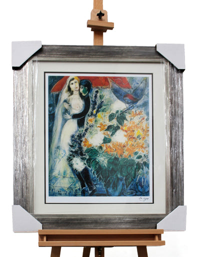"Bride Under Canopy Lithograph on Paper 59/150 by Marc Chagall 30.5""W x 37.5""H"