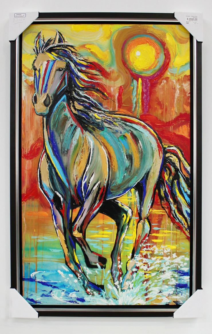 "Horse Embellished Giclee On Canvas by Thomas Goetz 40.5""W x 64.5""H"