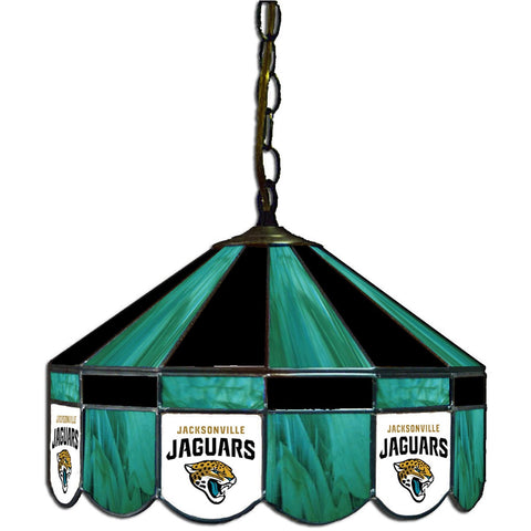 "Jaguars 16"" Stained Glass Lamp Shade W/ Pull Light"