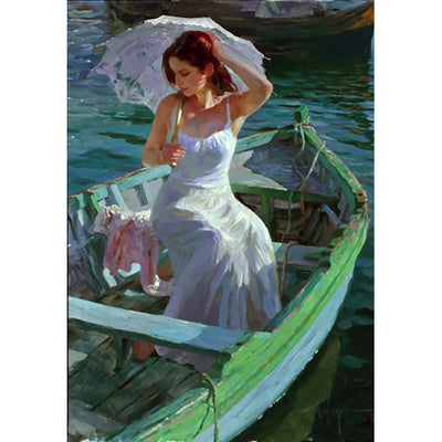 "Lakeside Reflection Giclee on Canvas Limited Edition 132/195 by Volegov 32""W x 43""H"