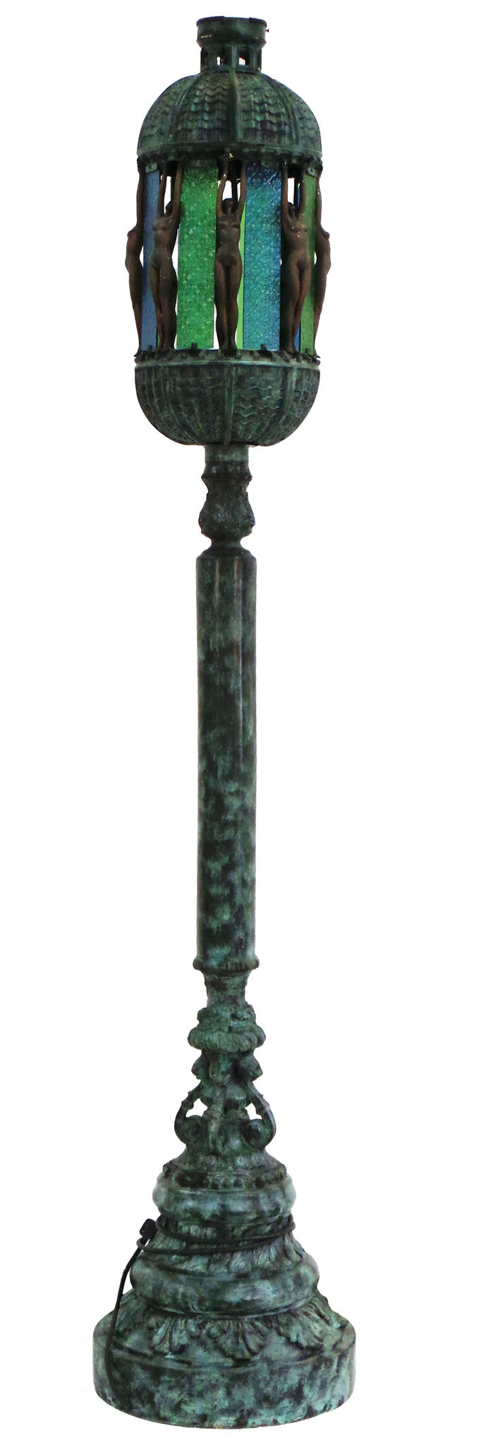"Lamp Post with Naked Lady 20"" Wide by 89"" High"