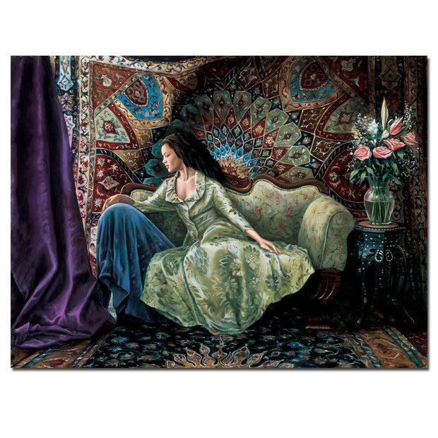 "Michelle in Green Giclee on Canvas Limited Edition Artist's Proof by McCormick 57""W x 48""H"