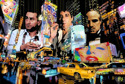 "Mob City Ltd Edition on Acrylic by Marc Rudinsky 60""W x 40""H"
