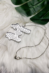 Stacked Double Name Necklace- (3 Color Options)