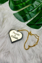 Load image into Gallery viewer, Double Name Heart Necklace- (3 Color Options)