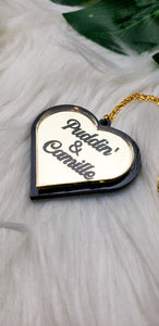 Double Name Heart Necklace- (3 Color Options)