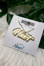 Load image into Gallery viewer, Single Name Outline Necklace (3 Color Options)