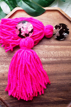 Load image into Gallery viewer, Poppin Pink- Tassel Earrings