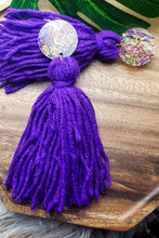 Load image into Gallery viewer, Purple Kisses- Tassel Earrings