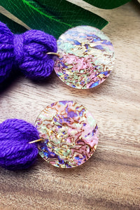 Purple Kisses- Tassel Earrings