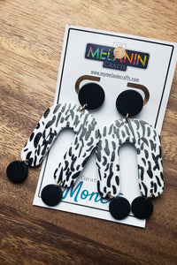Zebra-ish Earrings