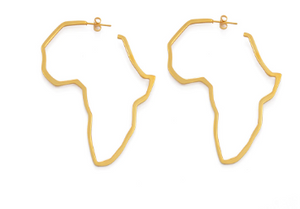 Africa Outline Earrings- (4 Color Options)