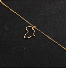 Load image into Gallery viewer, Africa Outline Necklace- (3 Color Options)