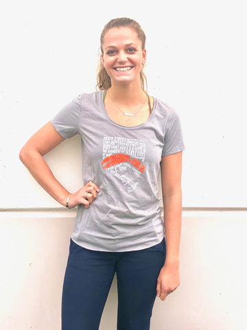 Women's 26.2 Gray Pinstripe Street Names