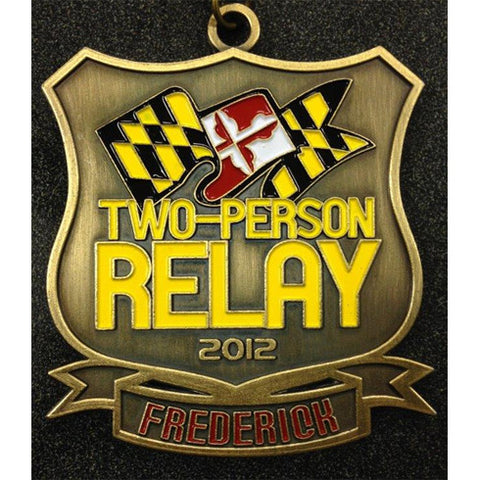 2012 Frederick 2-Person Relay Replacement Medal