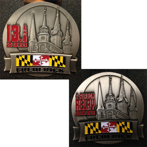 2013 Frederick Running Festival Replacement Medals