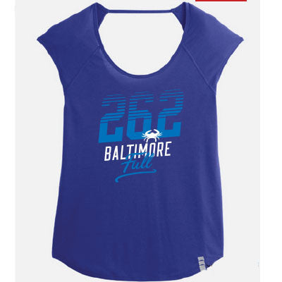 Baltimore Striped Fly-By Purple T