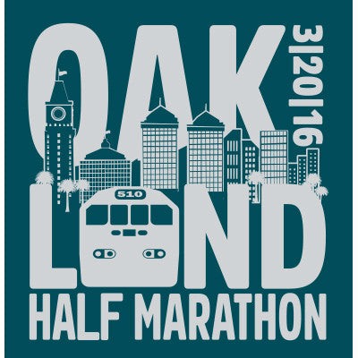 2016 Oakland Women's Half Marathon Race Shirt