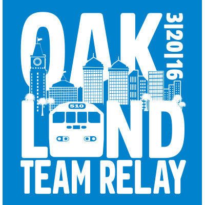 2016 Oakland Men's Team Relay Race Shirt