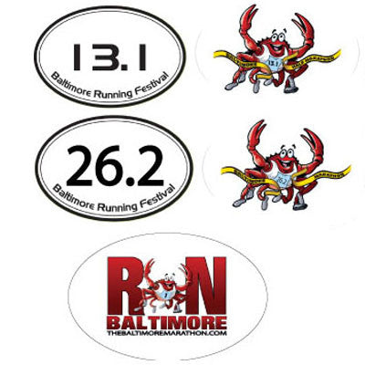 Baltimore Running Festival Stickers