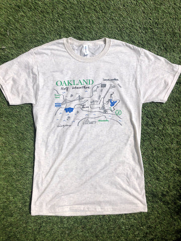 Oakland Half Marathon Map Shirt