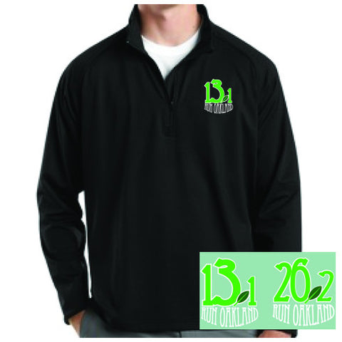 Men's Run Oakland 1/4 Zip-Black