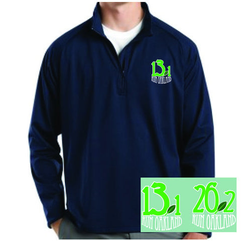 Men's Run Oakland 1/4 Zip- Navy