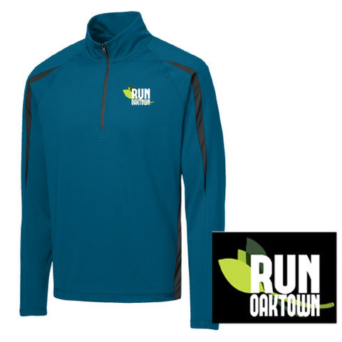 Men's Run Oaktown 1/4 Zip Peacock