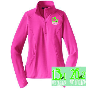 Women's Run Oakland 1/4 Zip-Pink