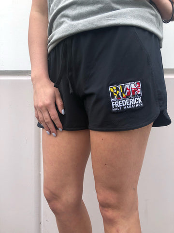 W's Run Frederick UA shorts