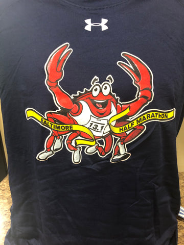 Blue The Crab Men's Long Sleeve Tech Tee - Assorted Colors