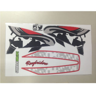 Roughrider Platinum Helmet Decals