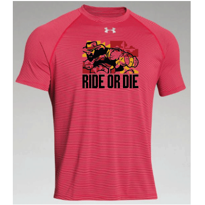Ride or Die Maryland RoughRiders Men's Striped Tech T