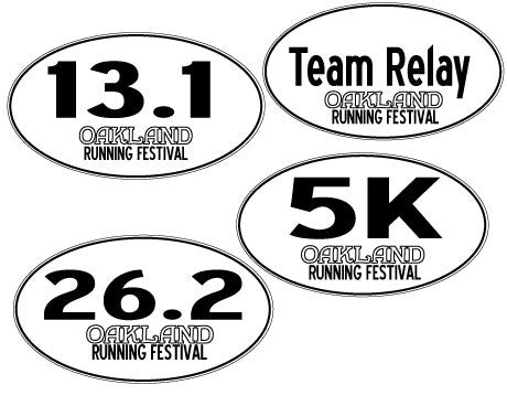 Oakland Running Festival Stickers