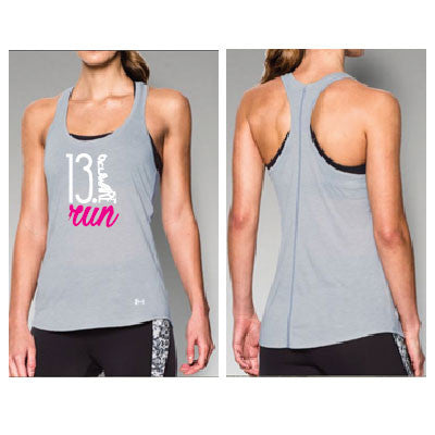 Run Delaware 13.1 UA Women's Striped Tank- Gray