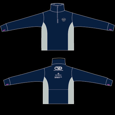 2017 Women's Oakland Full Marathon Race Shirt-Navy/Grey