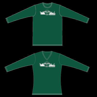 2017 Men's Oakland Half Marathon Race Shirt- Hunter Green