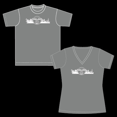 2017 Women's Oakland Team Relay Race Shirt- Grey