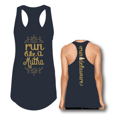 Women's Run Like a Mutha Tank- Navy